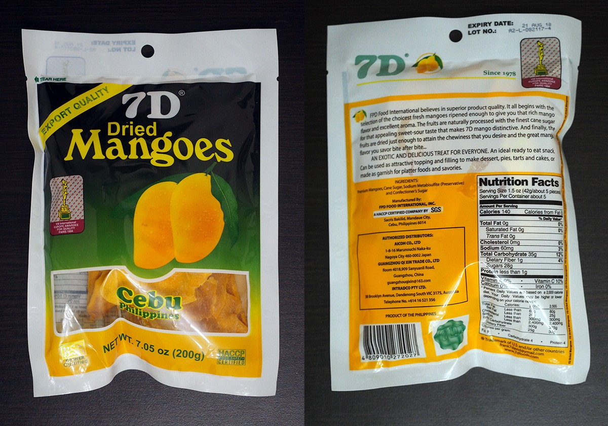 7D Dried Mangoes Cebu Philippines