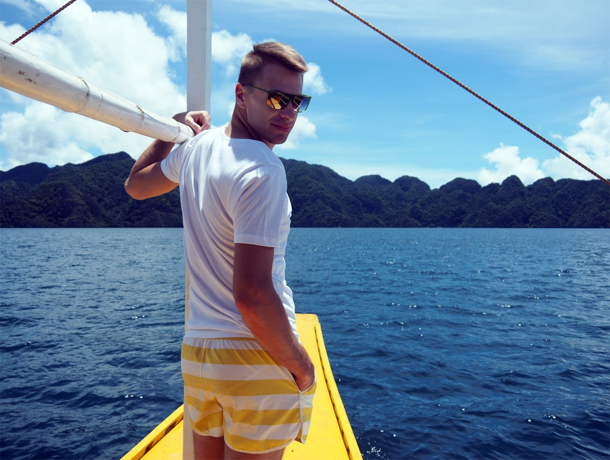 Andrei Salokhin in Coron Island, Palawan - travelblogstories