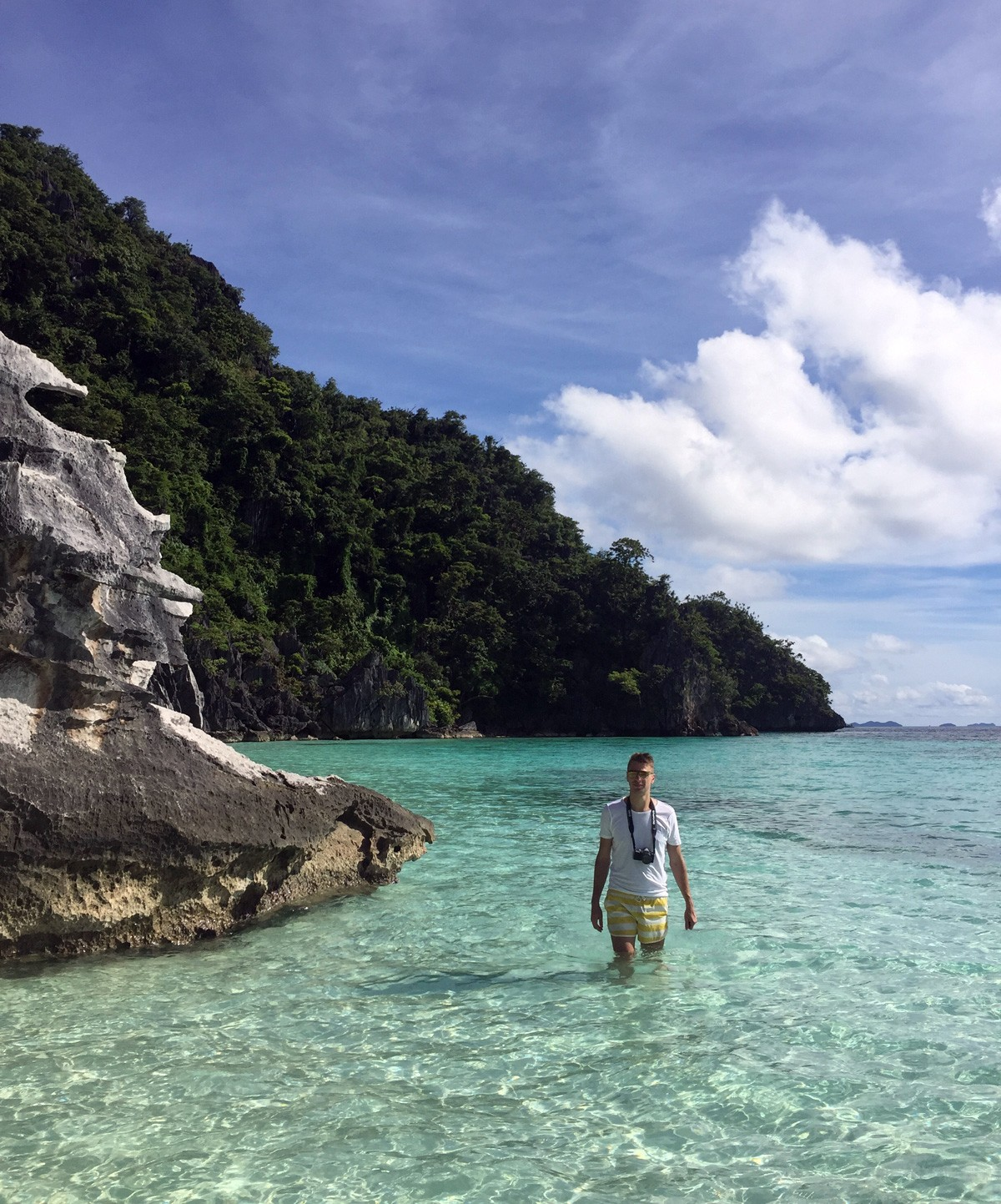 Andrei on banul beach, Palawan - Travelblogstories