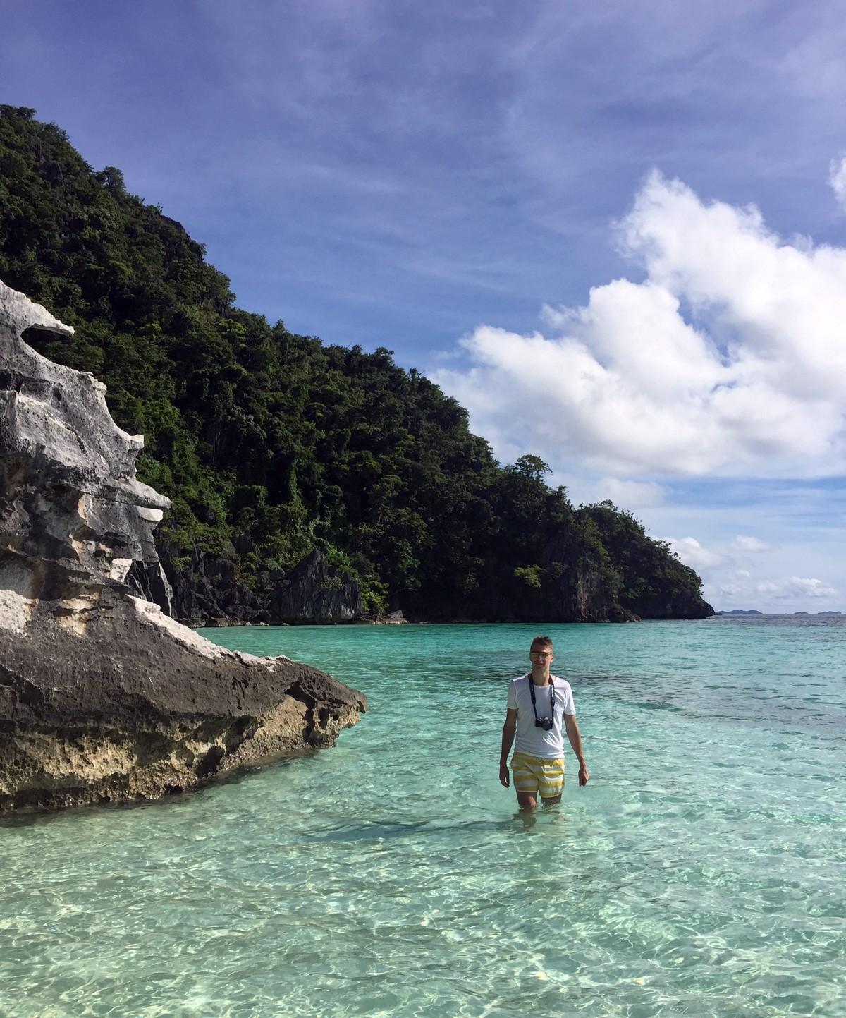 Andrei on banul beach, Palawan - Travelblogstories