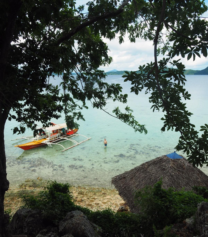 Tourist boat on Cheron island, Palawan
