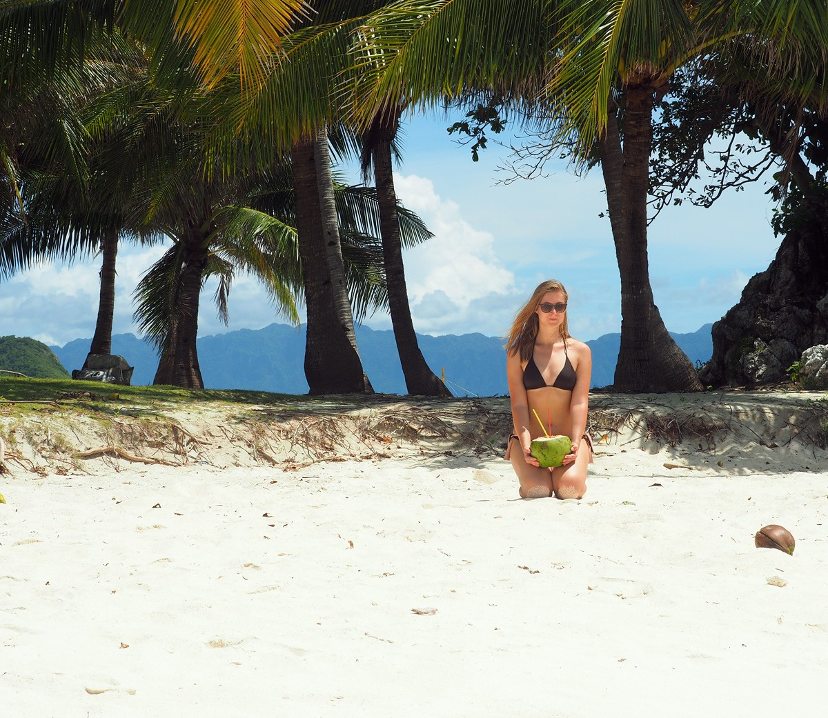Nastia on Malcapuya island Palawan - Travelblogstories