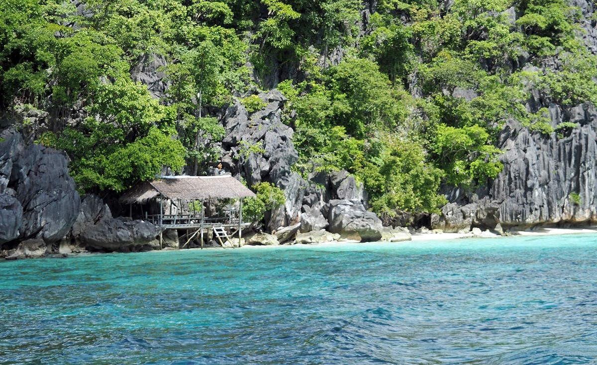 Beaches with hut near Coron Town, Palawan