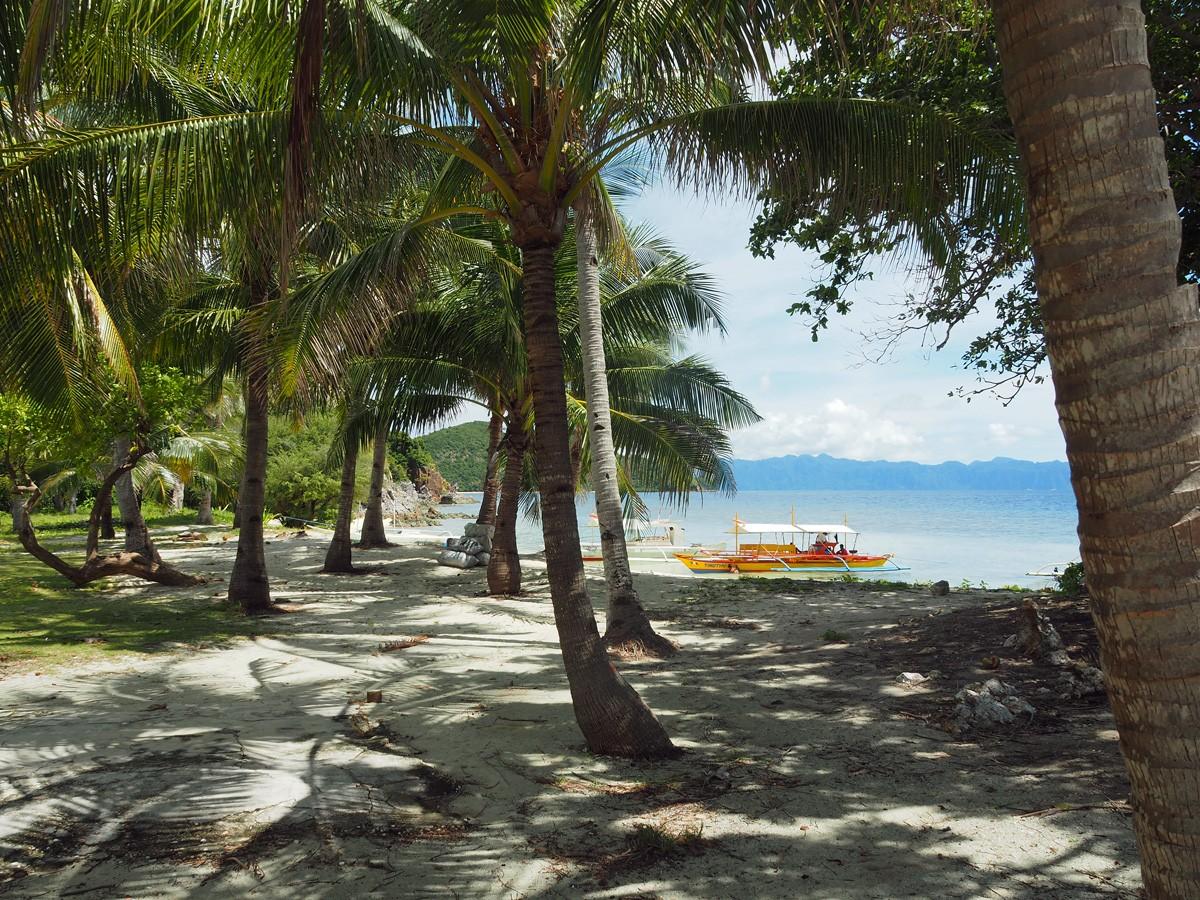 Boats with tourists in Malcapuya island