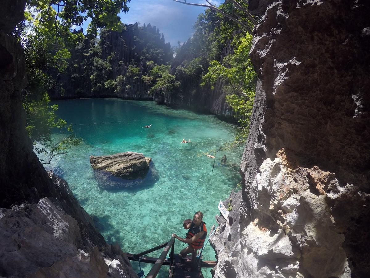 Nastya in Twin Lagoon, Palawan - Travelblogstories