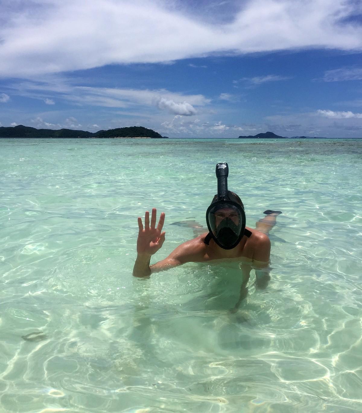 Malcapuya island snorkeling - Andrei from Travelblogstories