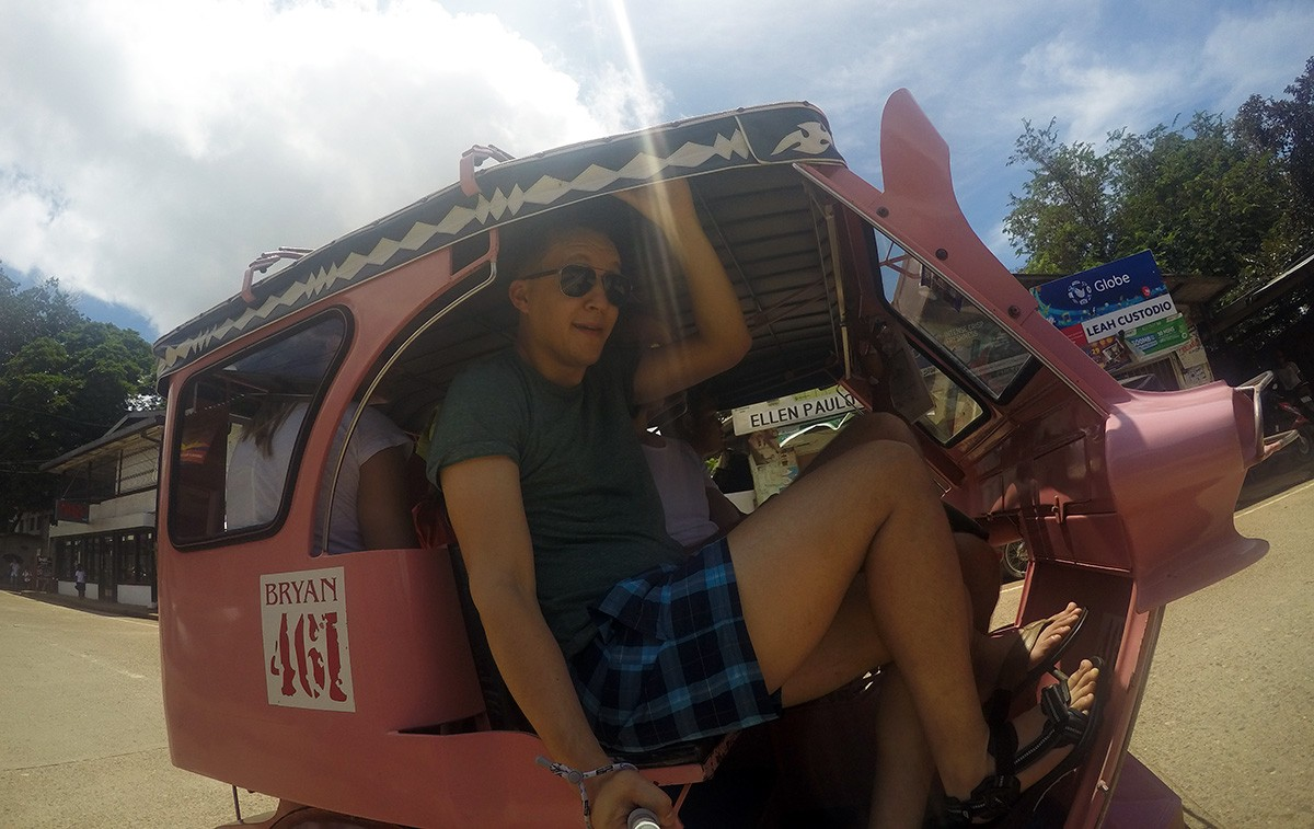 Philippines transportation tricycle on Busuanga island