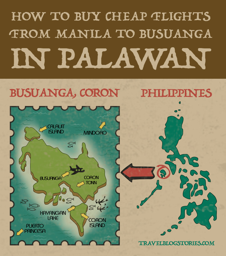 Busuanga, Coron islands map Palawan, Philippines