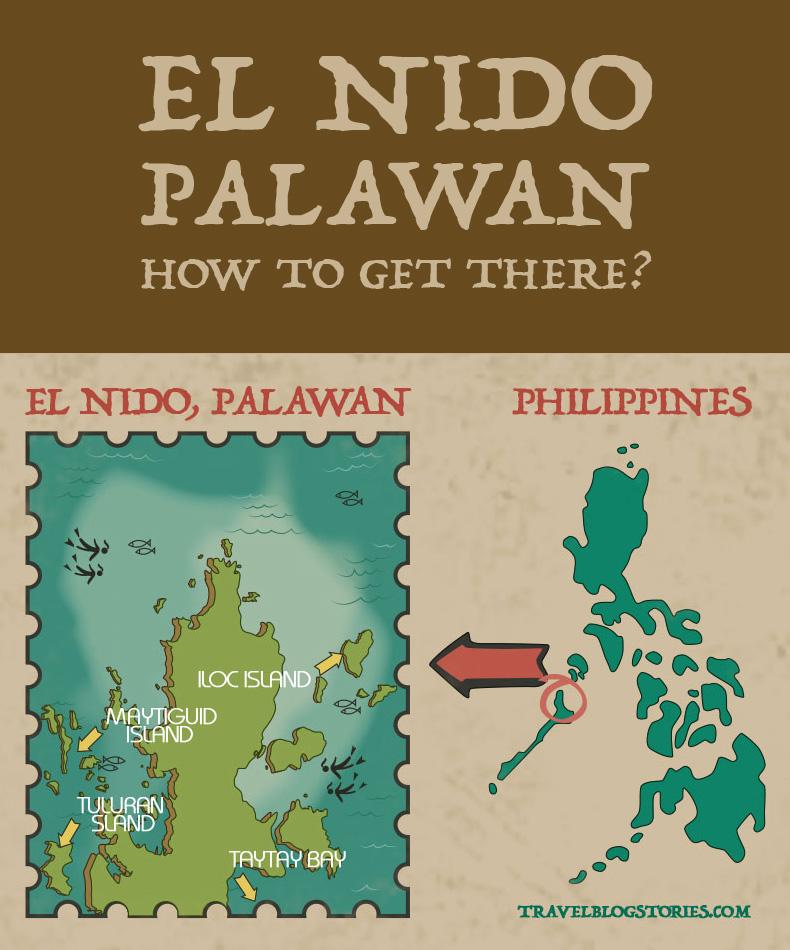 el nido map philippines