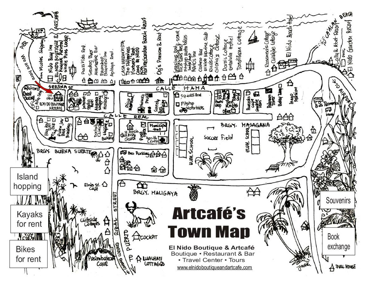artcafe el nido town map